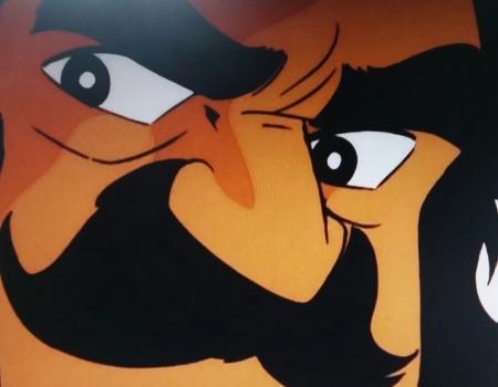 Dubious moustache Saotome